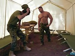 Big dick military anal sex with cum in mouth