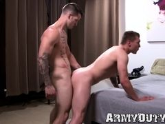 Handsome military stud raw drilled long dick style