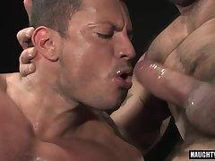 Latin gay anal sex with facial cum
