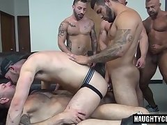 Latin jock double penetration and cumshot