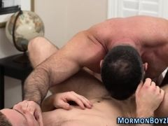 Mormon elder tugs cumshot