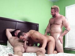 threesome in a hotel room