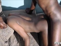 Black African Twinks Barebacking Threesome